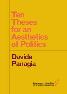 View Ten Theses for an Aesthetics of Politics